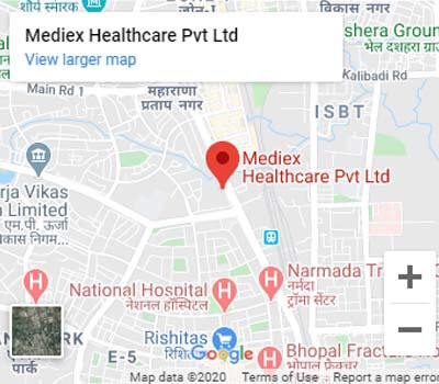 Mediex Healthcare PVT. LTD. - Google Map